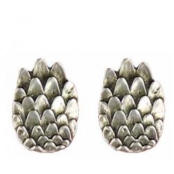 Wing earrings button