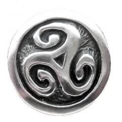 Toulhoat Triskel medal brooch