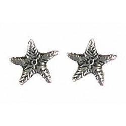Star earrings button