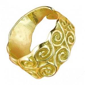 Toulhoat Triskels cylinder ring (open)