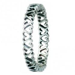 Bracelet Toulhoat cœurs (à cliquet)