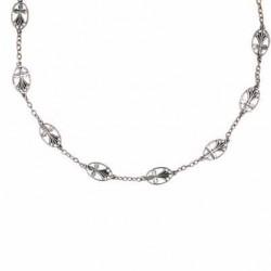 Toulhoat Ermine medal necklace 9 elts