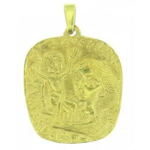 médaille Toulhoat Vierge à l'enfant