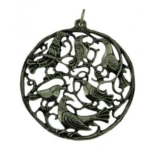 Pendentif en argent Volière de Toulhoat. Bijou celtique inspiré de la nature.