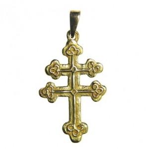 Croix de Lorraine tréflée