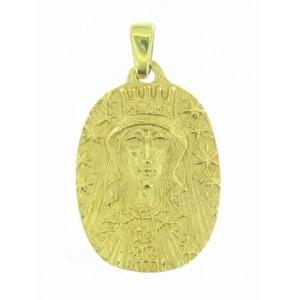 Toulhoat Crowned Virgin imedal
