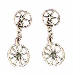 Wheel earrings pendants