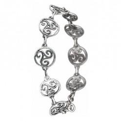 Toulhoat Circled triskels bracelet 9 elts 175cm†