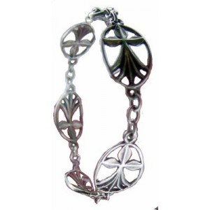 Bracelet Toulhoat Médailles hermine 5 elts