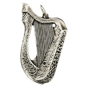 Toulhoat Big celtic harp pendant 6g 3.5cm