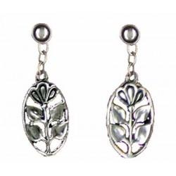 Flower medal earrings pendants