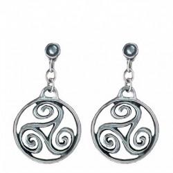 Circled triskel earrings pendants
