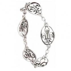 Bracelet Toulhoat Médailles lys 5 elts