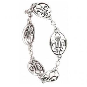 Toulhoat Lily medal bracelet 5 elts 16 cm