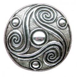 Toulhoat Triskel round brooch