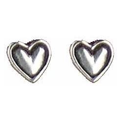 Heart earrings button