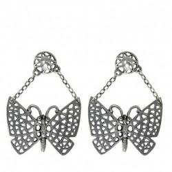 Butterfly earrings pendants