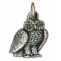 Toulhoat Owl pendant charm