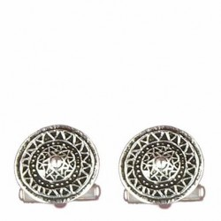Celtic shield cufflink