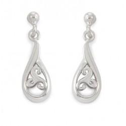 triskel hanging drop earrings