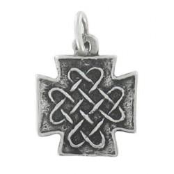 Croix carrée entrelacs Toulhoat 1.3g