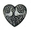 Broche Toulhoat cœur 2 oiseaux (mixte Pendentif)