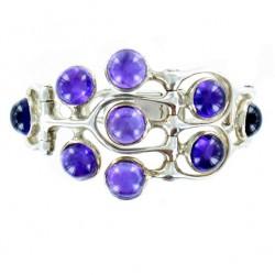 Bracelet Toulhoat 9 améthystes 18.5 cm