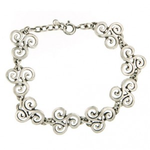 Toulhoat Cut-out triskels bracelet 14g