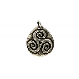 Toulhoat Oval triskel pendant