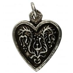 Toulhoat Flowery heart pendant