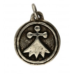 Toulhoat Round ermine medal pendant