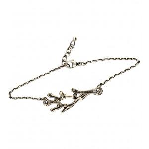 Bracelet en argent d'inspiration celtique, chaînette et fermoir. Bijoux celtiques.
