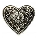 Pendentif Toulhoat cœur de costume grand