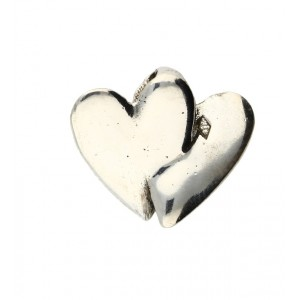 Toulhoat Two small hearts pendant 2.8g