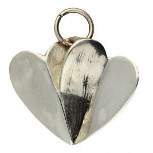 Coeur en argent, bijou toulhoat symbole d'amour réciproque et permanent