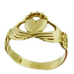 Toulhoat Solid gold Claddagh ring 4g