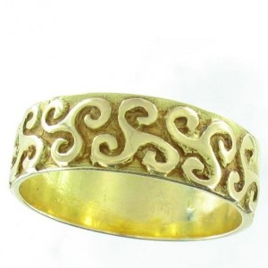 Toulhoat Golden triskel ring 6g 6.5mm