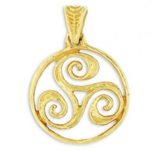Toulhoat Big encircled triskel pendant 13.5g 3.5cm