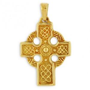 Toulhoat Celtic cross pendant 5.2g 2cm