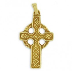 Toulhoat Celtic cross pendant 6.6g 3cm