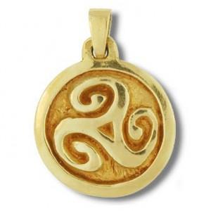 Pendentif Toulhoat triskel médaille