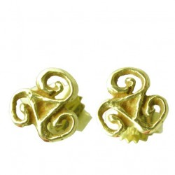 Toulhoat Mini triskels earrings 1.50g