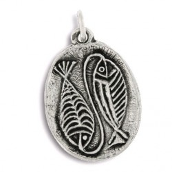 Toulhoat Two fishes pendant 3.8cm x 2.5cm