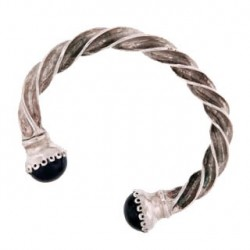 Toulhoat Amethyst torque bracelet 41g