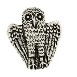 Toulhoat Owl brooch 11.3g