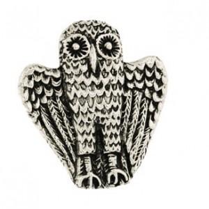 Toulhoat Owl brooch 11.3g