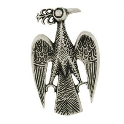 Toulhoat Phoenix brooch 11.4g