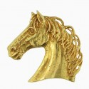 Toulhoat Horse head brooch 15g