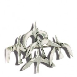 Toulhoat Flock of seagulls brooch 12.5g