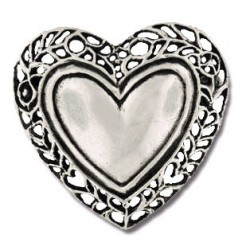 Toulhoat Garland heart brooch 6g